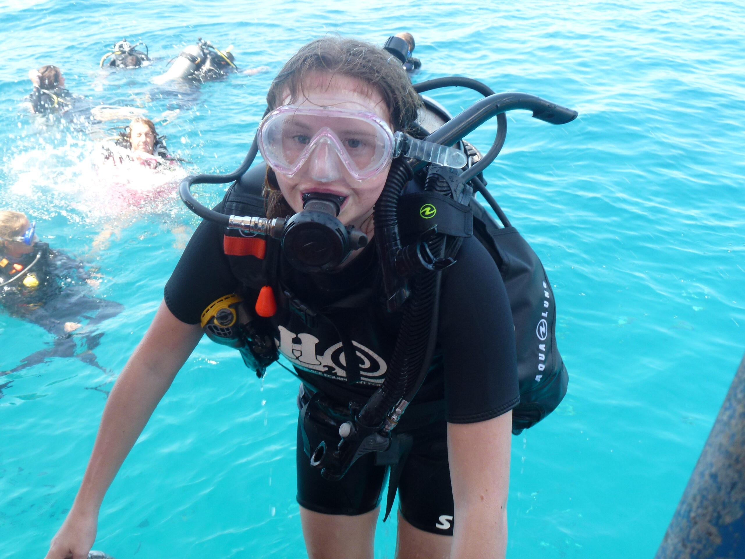 Billede af dreng der dykker